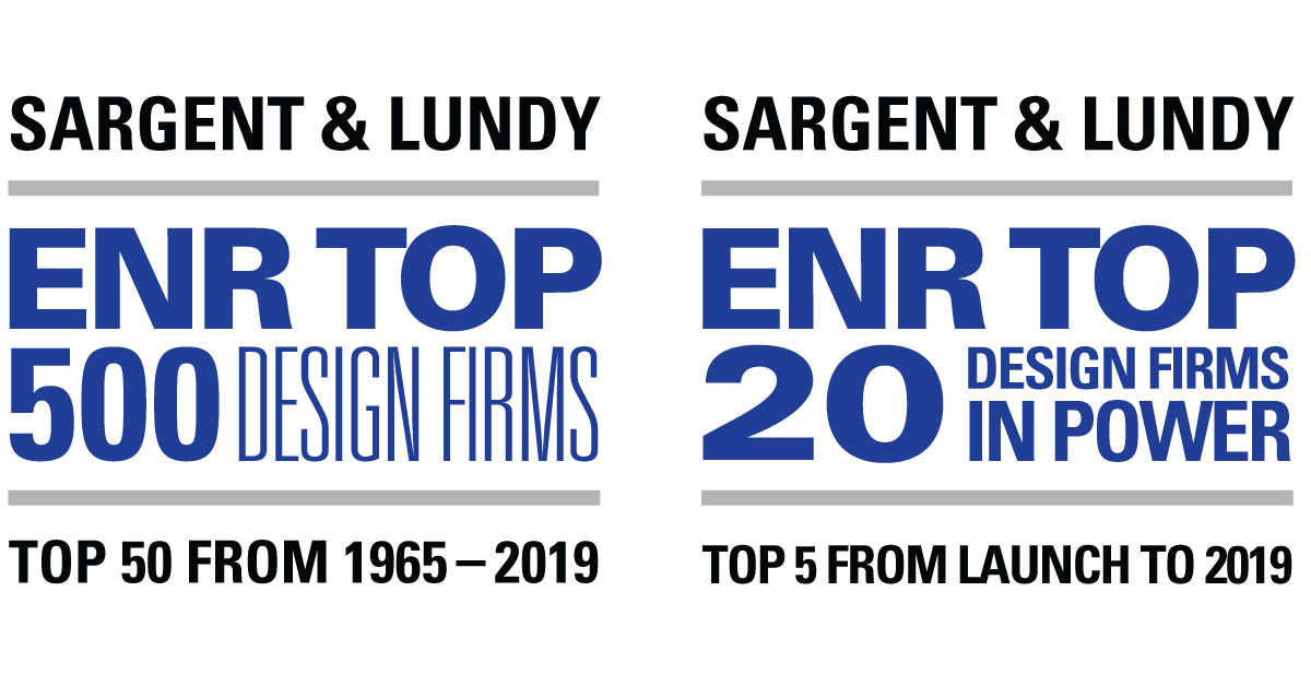 ENR Releases Top 500 Design Firms Issue; Sargent & Lundy Among Top Five in Power